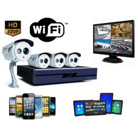 kit surveillance exterieur wifi 4 cameras hd 720p