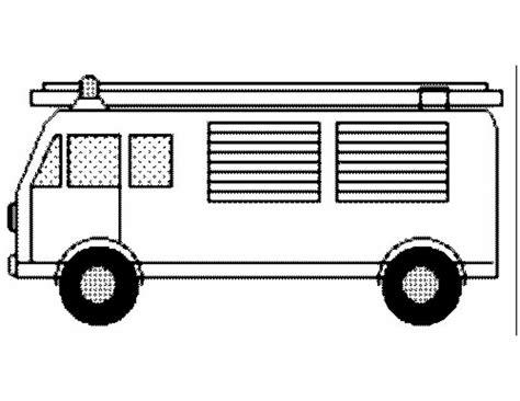 Auto Kleurplaat Zijkant kleuren nu brandweerauto zijkant kleurplaten