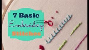 7 Basic Embroidery Stitches