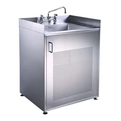stainless steel utility sink with cabinet whitehause utility series single door stainless steel