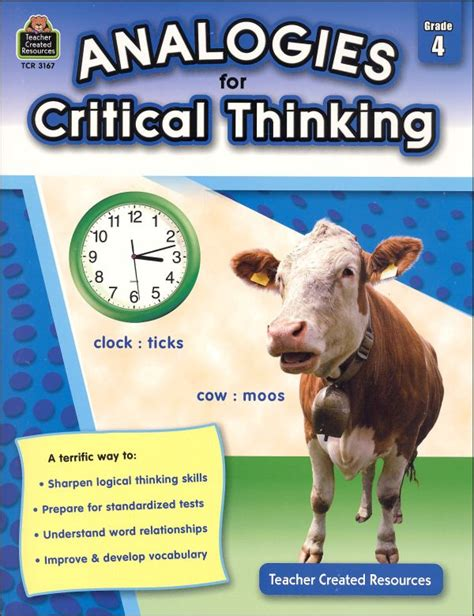 Analogies For Critical Thinking Grade 4 (049476) Details  Rainbow Resource Center, Inc