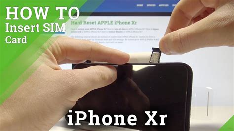 If the phone is facing upwards, the gold contacts will be facing down. How to Install SIM in iPhone Xr - Insert Nano SIM Card Tutorial - YouTube