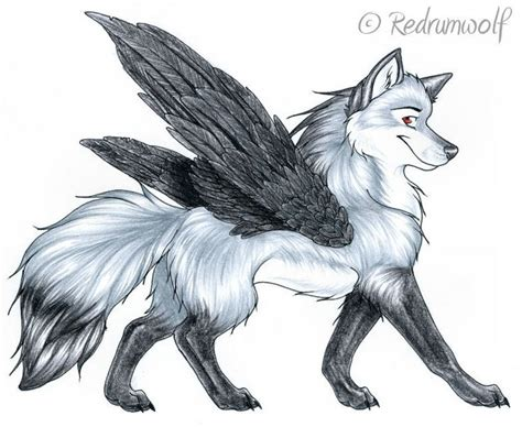 Black Wolf With Red Eyes Demon