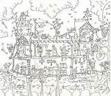 Castle Colouring Medieval Poster Coloring Posters Giant Pages Really Adult Sheets Drawing Notonthehighstreet Amazon Toys Books Colour Games Middle Dragon sketch template