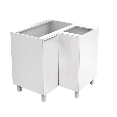 element cuisine angle bas caisson angle bas 80cm blanc haute brillance achat