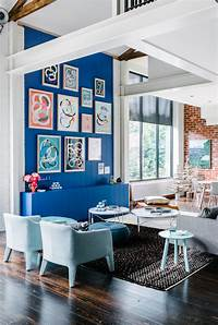 inspiring living room accent wall ACCENT WALL INSPIRATION :: GIMME COLOR - coco kelley coco kelley