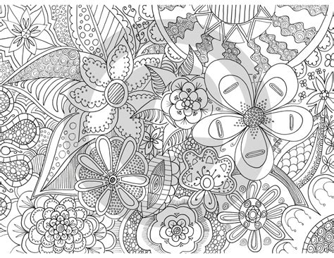 The Fleurs Of Zen Coloring Page