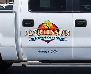 custom logo for landscaping company ajr signs and graphics With truck lettering designs