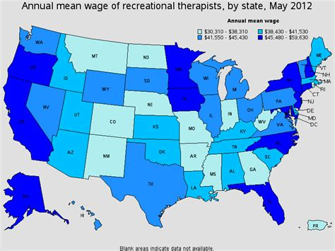 Therapist Salary By State by Recreational Therapist Salary Healthcare Salary World
