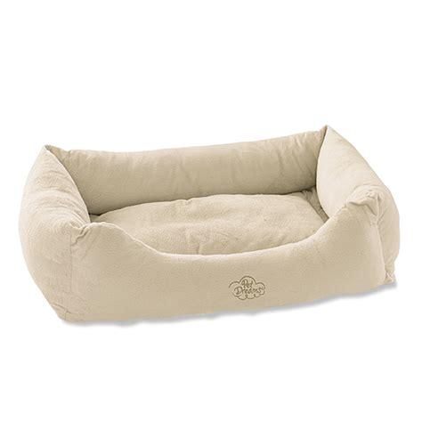 bolstering dog beds donut dog beds plush bumper dog beds