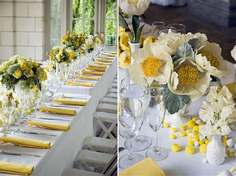 deco table mariage d 233 coration de mariage jaune mariageoriginal