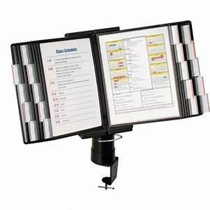 aidata fds011l 20 desk clamp document holder 20 pocket With desk document holder stand