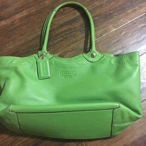 off Coach Handbags Coach purse lime green and brown
