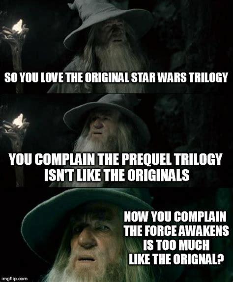 Star Wars Prequel Memes - star wars fan boys inconsistent complaints imgflip