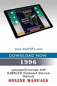 1996 Johnson  Evinrude 4hp E4brled Outboard Service Manual
