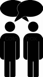two people talking silhouette clipart - Clipground