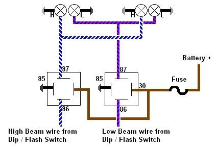 No Headlight Relay Wiring Diagram by Will S Spitfire Headlight Relays