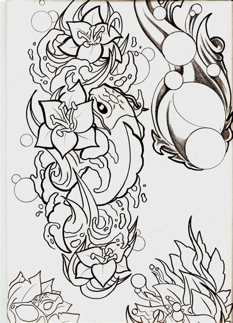 outline  flowers   clip art  clip