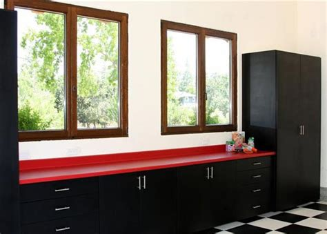 red and black garage cabinets gallery of custom garages by valet custom cabinets closets
