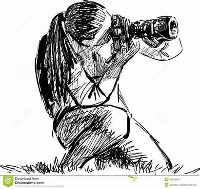 Drawing Photographe Photographer Sketch Fotografo Croquis Fotograf