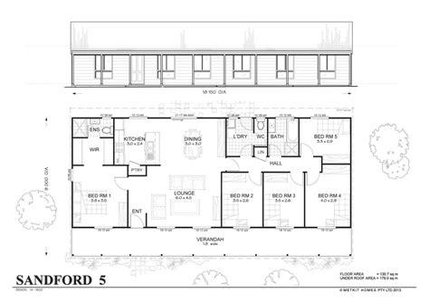 one storey house plans sanford met kit homes bedroom steel frame home floor plan