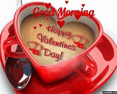Valentine Happy Morning Quote Valentines Coffee Animated
