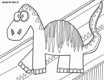 Doodle Alley Coloring Pages Dinosaur Troodon