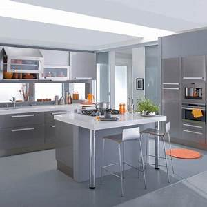 Facade De Cuisine Seule Lapeyre : cuisine silver grise en m lamine lapeyre marie claire maison ~ Dailycaller-alerts.com Idées de Décoration