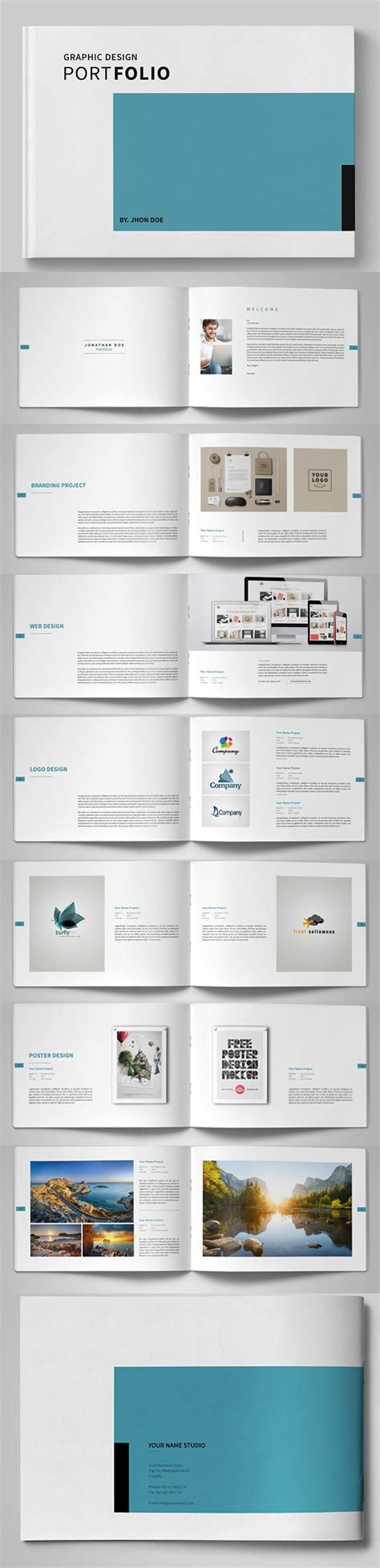 Graphic Design Brochure Templates by 20 New Professional Catalog Brochure Templates Design