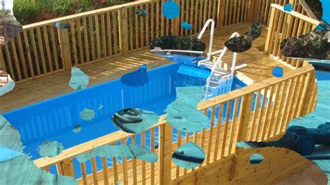 pool für terrasse stahlwandpool mit holz verkleiden treppenstufen au 223 en