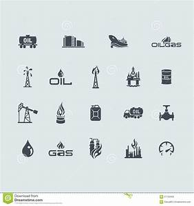 Set Of Oil And Gas Icons Stock Vector - Image: 57133426