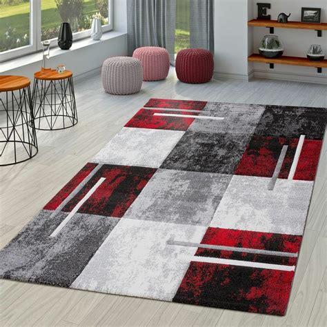 teppich wohnzimmer grau moderner teppich wohnzimmer mit konturenschnitt in rot grau schwarz ebay