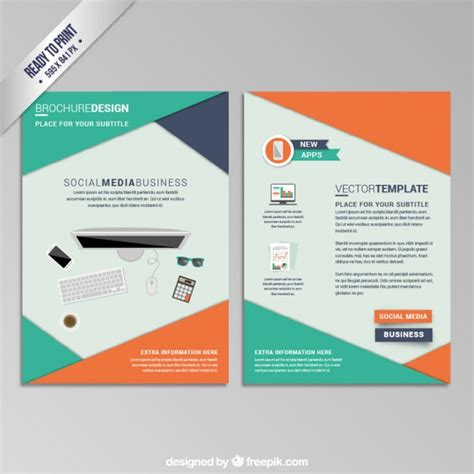 Pamphlet Vectors, Photos And Psd Files