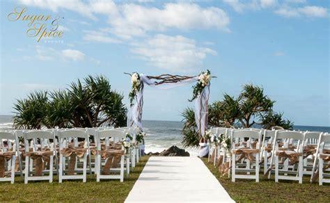 sugar  spice  gold coast beach wedding