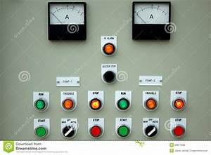 Control Panel Lights  Royalty Free Stock Photo