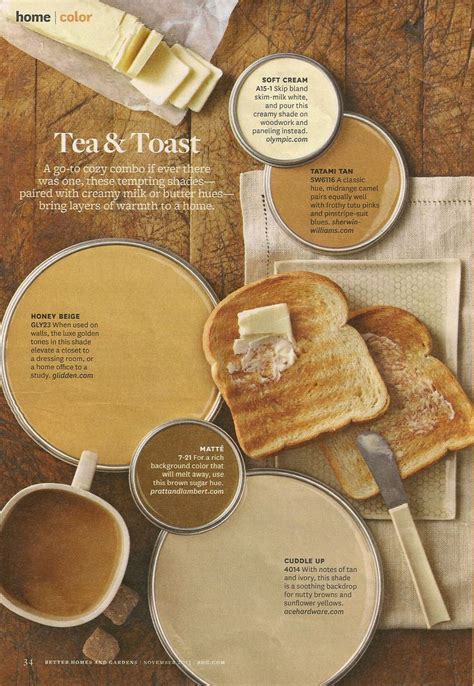 interior design ideas for kitchen color schemes bhg tea toast color palette interiors by color