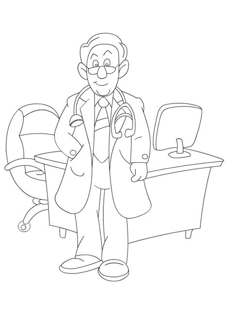 printable doctor coloring pages  kids ages