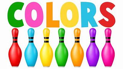 Bowling Clipart Colors Learn Learning Permainan Pins