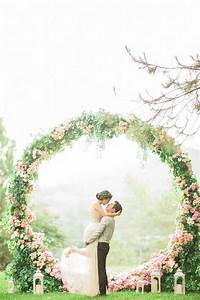Picture Of giant pink floral wreath for a backdrop