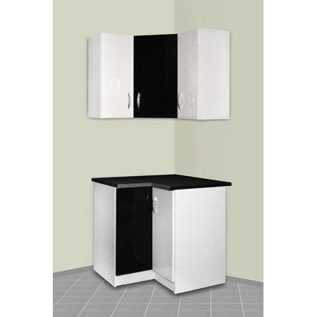 meuble d angle haut cuisine meuble cuisine d 39 angle haut et bas oxane noir achat