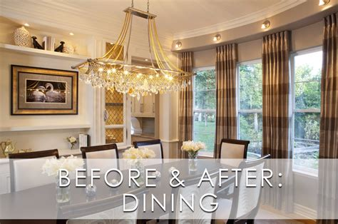 Glamorous Modern Dining Room Before And After Robeson Design