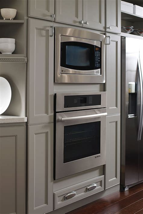 kitchen in homecrest oven and microwave cabinet homecrest cabinetry