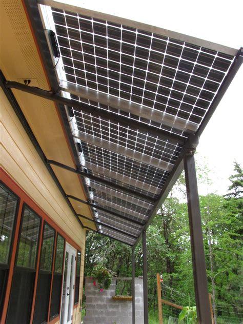 steely residence custom bipv solar awning energy design