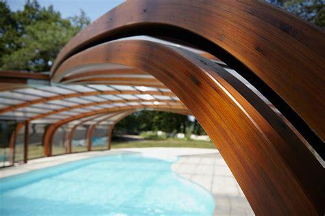 abri piscine bois lamelle colle abri bois la histoire du lamell 233 coll 233 mag abrisud