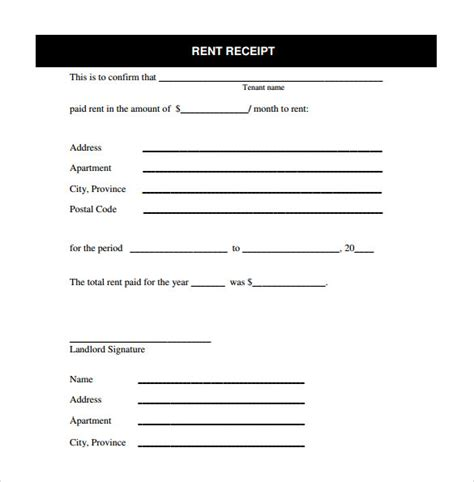 receipt template docs free rent receipt template teplates for every day