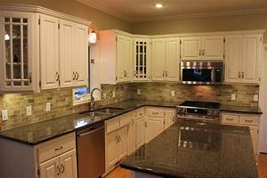 kitchen backsplash ideas with white cabinets and dark With kitchen designs with white cabinets and black countertops
