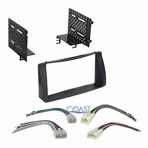 Car Radio Stereo Double Din Dash Kit Harness Combo For