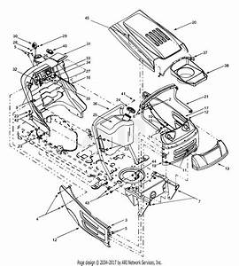 Mtd 13au608h016  2000  Parts Diagram For Hood Style 8