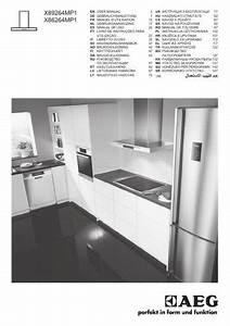 Aeg X86264mp1 Cooker Hood User Manual