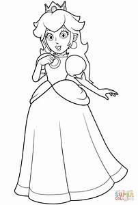 Pretty Princess Peach coloring page | Free Printable ...